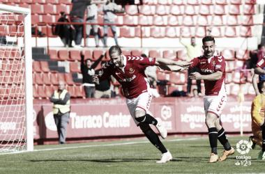 Albentosa celebra su gol al Real Oviedo | Imagen: LaLiga 1|2|3