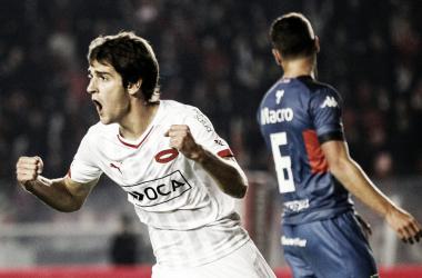 Albertengo festejando el 1 a 0 en el 2015. Fue la última victoria del Rojo | Foto: Independiente