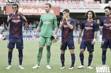 Alberto Varo con el FC Barcelona B en el Miniestadi   Foto: Noelia Déniz, VAVEL