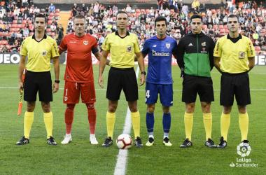 Alberto como capitán del equipo. Fotografía: La Liga