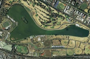 Vista aérea do Circuito de Albert Park, em Melbourne (Foto: José Ant. Fernández)