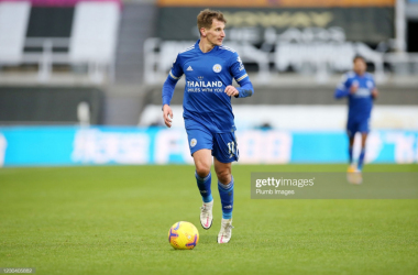 The Foxes have just lost one game in which Albrighton has played in this season as City mount a top four push. Photo credit: Getty/Plumb Images