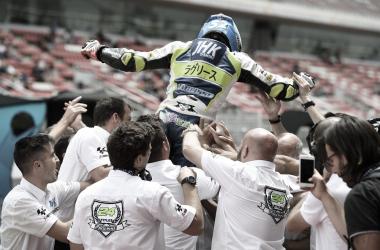 Jeremy Alcoba y su equipo. Fuente: FIM CEV Repsol