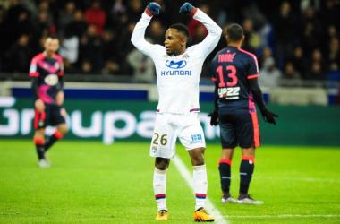 Aldo Kalulu après son but contre Bordeaux en début d'année 2016 (IconSport)