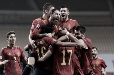 La Selección celebrando FOTO: @SeFutbol
