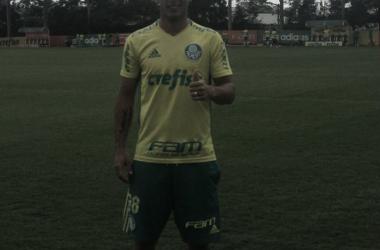 El Lobo llegó a la Academia de Fútbol para entrenar con el Palmeiras. FOTO: PRENSA PALMEIRAS