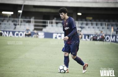 Carles Aleñá jugando con el FC Barcelona B: Foto: Noelia Deniz. VAVEL.Com
