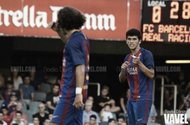 Aleñá y Cucurella en el último partido del Barça B. Foto: Noelia Déniz, VAVEL