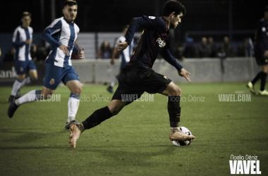 Carles Aleñá, ya jugador del primer equipo, en el partido de ida / Foto: Noelia Déniz (VAVEL.com)