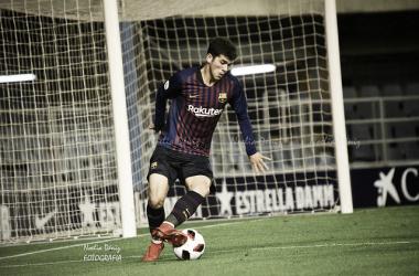 Aleñá marca su primer gol en el Camp Nou