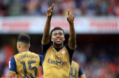 Arsenal forward Alex Iwobi. Picture Source: Pulse.ng