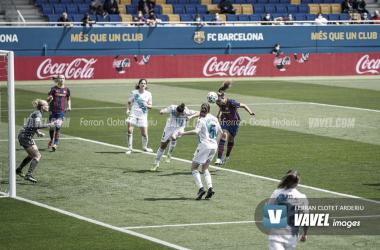 Alexia, en uno de sus tres goles. Foto: Ferran Clotet.