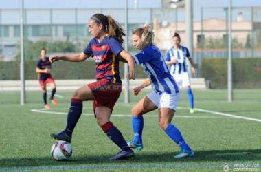 Alexia, durante un lance del partido ante el sporting (Ernesto Aradilla)