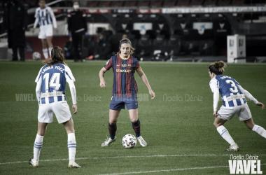 Alexia, esta temporada en el Camp Nou. Foto: Noelia Déniz.