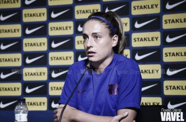 Alexia Putellas en rueda de prensa | Foto: Noelia Déniz - VAVEL