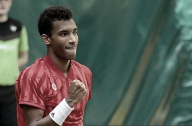 Felix-Auger Aliassime venceu Marcos Giron no ATP 500 de Halle 2021 (ATP / Divulgação)