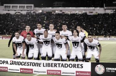 Alineación del equipo auriazul para la idea de los cuartos de final en contra de Independiente del Valle (Foto: Pumas).