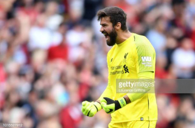 Alisson Becker has not yet completed one half of football this season for Liverpool (Getty Images)