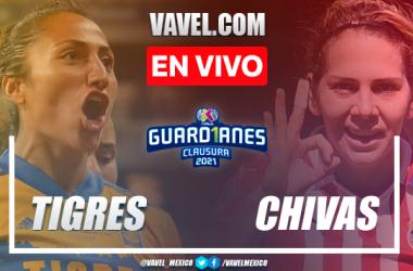 Goles y resumen del Tigres 5-3 Chivas en Final de Vuelta de la Liga MX Femenil Guard1anes 2021