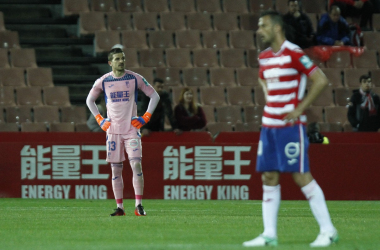 Javi Varas ha encajado 47 goles en las 40 jornadas disputadas hasta el momento | Foto: Antonio L. Juárez