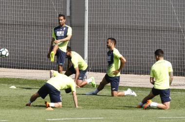 Montoro ha entrenado con sus compañeros este viernes   Foto: Antonio L. Juárez