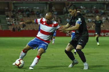 Juancho podría ser titular en el partido de Copa para dar descanso a los titulares habituales [Foto: Antonio L. Juárez]