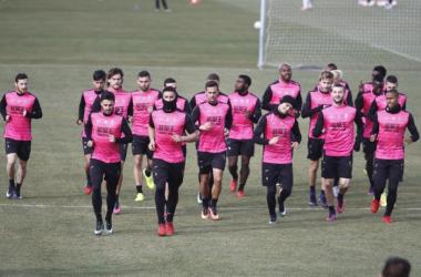 Entrenamiento del Granada CF [Foto Antonio L. Juárez]