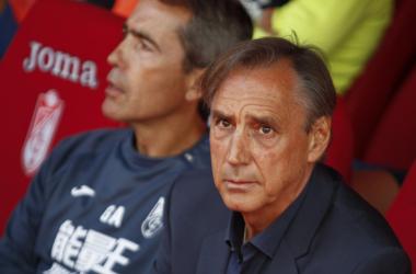 Miguel Ángel Portugal durante el partido del Granada CF frente al Reus. Foto: Antonio L Juárez