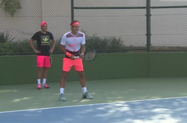 Federer si allena e disegna il futuro