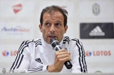 Allegri: ''En la Juventus los jugadores deben saber que hay que estar siempre preparados''