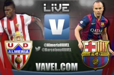 Live Liga BBVA : le match Almeria - FC Barcelone en direct