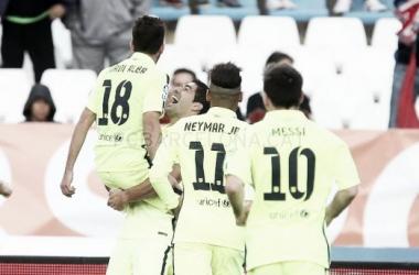Com gol de Neymar e grande atuação de Suárez, Barcelona vence Almería de virada