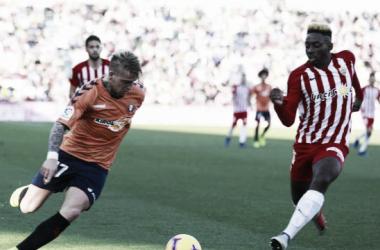 Almería 0 - Osasuna 1: tres puntos de ascenso