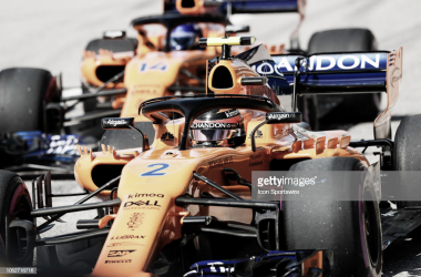 Vandoorne y Alonso en el GP de Estados Unidos | Fuente: Getty Images