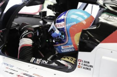 Alonso en el 8 de Toyota | Foto: Toyota Gazoo Racing