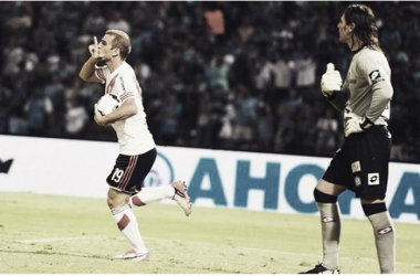 Alonso viene de marcar su primer gol en River. ante Belgrano (Foto: River Plate Oficial).
