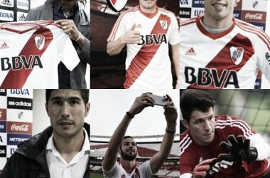 Lollo, Larrondo, Bologna, Rossi, Moreira y Mina (Fotomontaje).