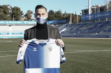 Álvaro Vázquez, presentado en la Nova Creu Alta (13/01/2021) | Foto: CE Sabadell FC