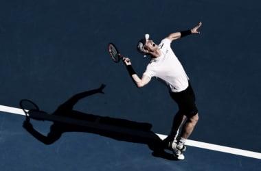 Andy Murray al servizio.Ben Solomon/Tennis Australia