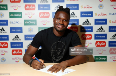 Amartey signs his new Leicester City deal | Photo: Getty/ Plumb Images