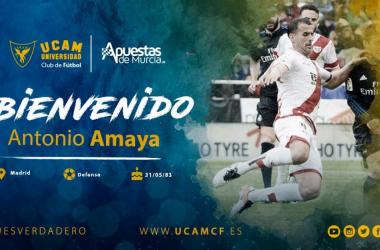 Antonio Amaya, nuevo fichaje del UCAM Murcia. Foto: UCAM Murcia CF.