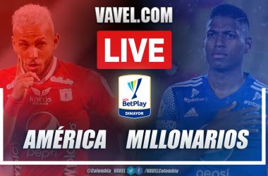 Resumen América vs Millonarios (1-2)en los cuartos de final ida por Liga BetPlay 2021-I