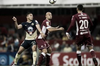 América empató a 1 gol con Saprissa en la cancha del Azteca (Foto: AMPrensa)