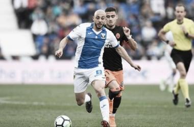 Amrabat durante la pasada temporada con el Leganés | Fuente: Página web del Leganés.