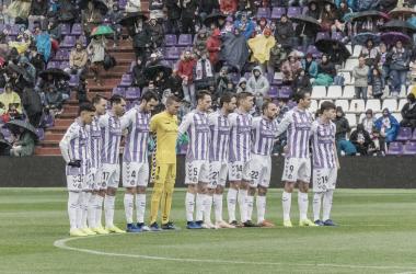 Minuto de silencio vs SD Eibar / Real Valladolid