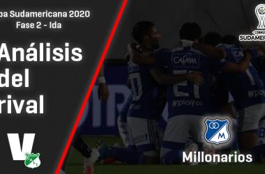 Deportivo Cali, análisis del rival: Millonarios (Fase 2 - ida, Sudamericana 2020)