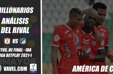 Millonarios, análisis del rival: América de Cali (4tos. de final - ida, Liga 2021-I)