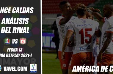 Once Caldas, análisis del rival: América de Cali (Fecha 13, Liga 2021-I)