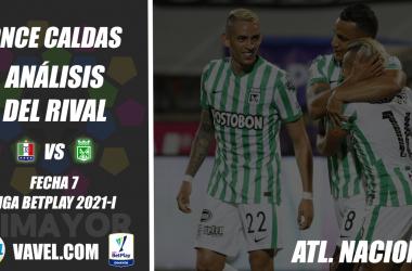Once Caldas, análisis del rival: Atlético Nacional (Fecha 7, Liga 2021-I)
