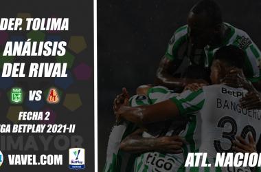 Deportes Tolima, análisis del rival: Atlético Nacional (Fecha 2, Liga 2021-II)